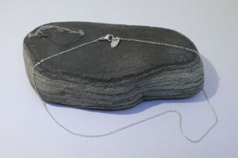 Sterling silver fine chain necklace